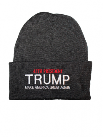 0d020d9e88c97 45th President Trump Beanie – Gray